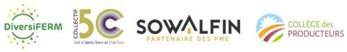 bannière logos 5C DiversiFerm Sowalfin Collège des producteurs